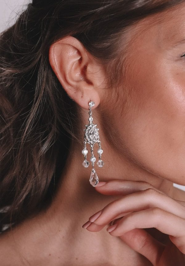 Vinka Design Bridal Accessories - Bridal earrings - Alexandra - available from Vinka Design Auckland bridal store