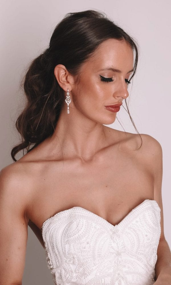 Vinka Design Bridal Accessories - Bridal Earrings - Elle - available from Vinka Design Auckland bridal store.