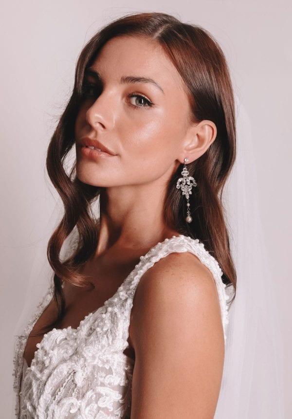 Vinka Design Bridal Accessories - Bridal Earrings - Tahlia - available from Vinka Design Auckland bridal store. chandelier earrings