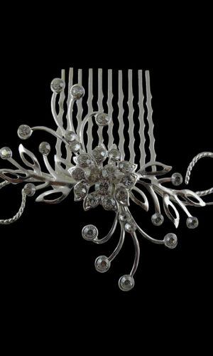 Annabeth Ornate Silver Hair Comb Headpiece from Vinka Design Wedding Accessories