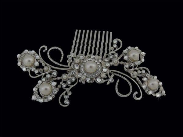 Carys Swarovski Crystal & Pearl Hair Comb Headpiece from Vinka Design Wedding Accessories