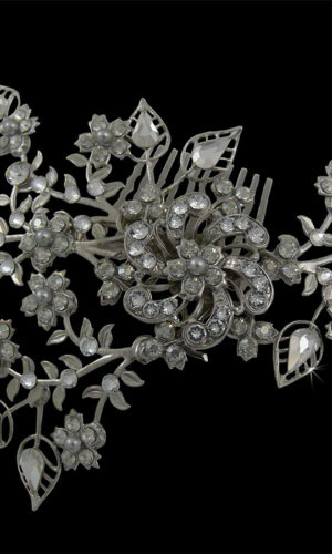 Charity Crystal Flowers Hair Comb Headpiece from Vinka Design Wedding Accessories