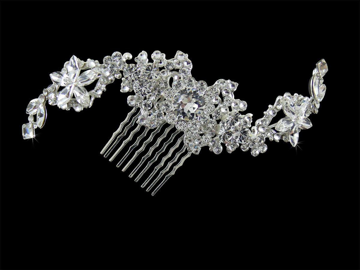 Cora Sweeping Crystal Hair Comb Headpiece from Vinka Design Wedding Accessories