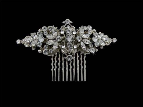Dorothy Silver Hair Comb Headpiece from Vinka Design Wedding Accessories