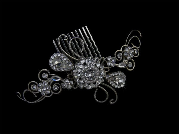 Kelsey Swarovski Crystals Hair Comb Headpiece from Vinka Design Wedding Accessories