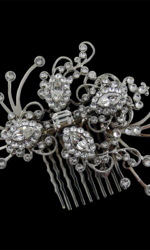 Penelope Diamante Hair Comb Headpiece from Vinka Design Wedding Accessories