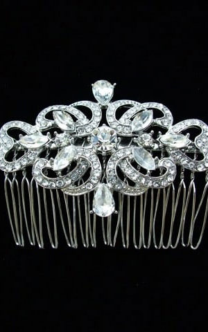 Windsor Bridal Classic Diamante Hair Comb Headpiece from Vinka Design Wedding Accessories