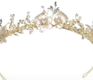 Windsor Bridal Crown Gold & Crystal Headpiece from Vinka Design Wedding Accessories