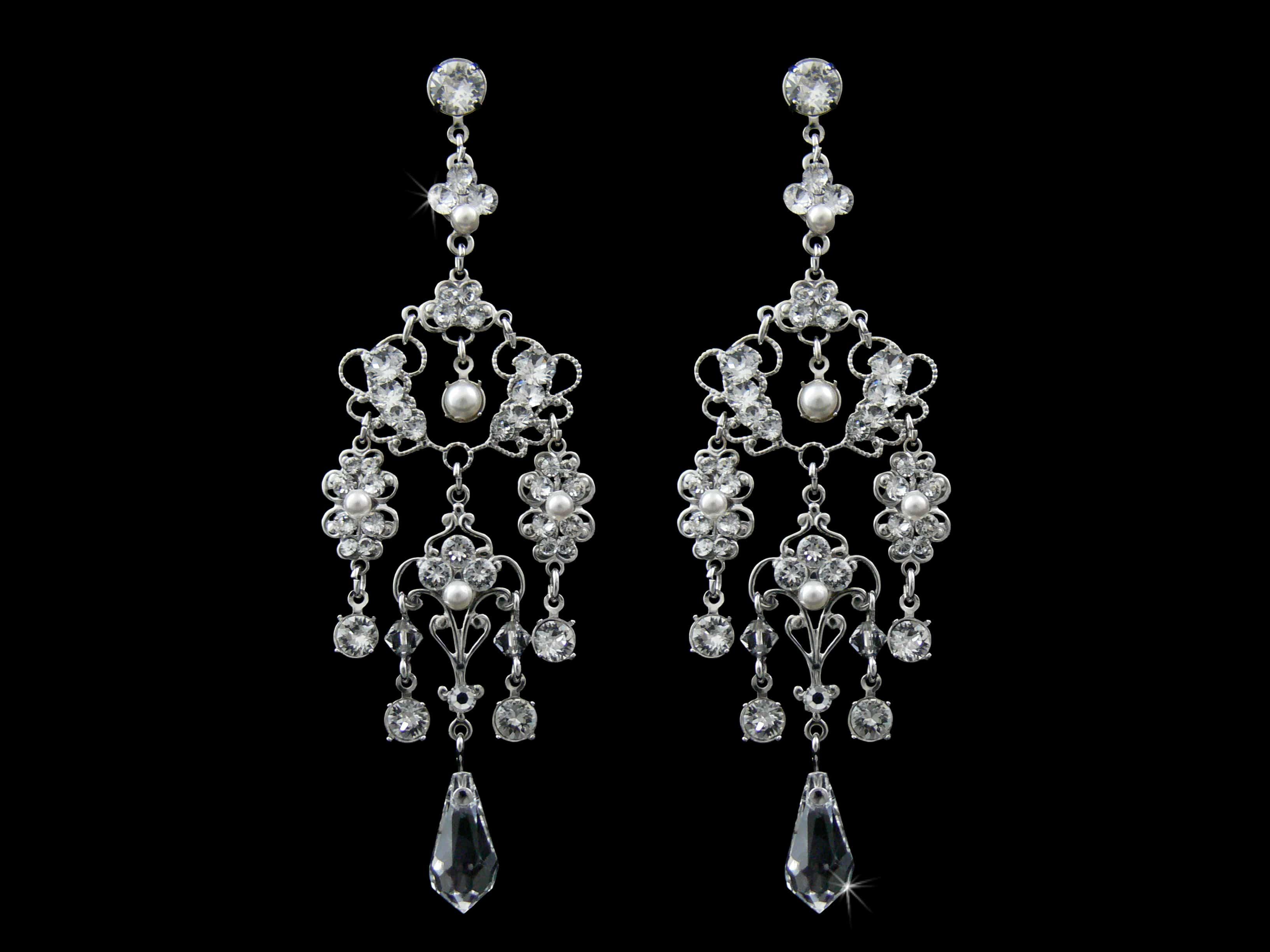Beyonce Chandelier Earrings from Vinka Design Bridal Accessories