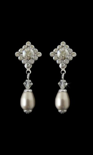 Nepal Pearl Drop Earrings from Vinka Design Bridal Accessories