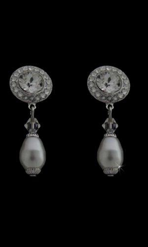 Rhea Pearl Drop Earrings from Vinka Design Bridal Accessories