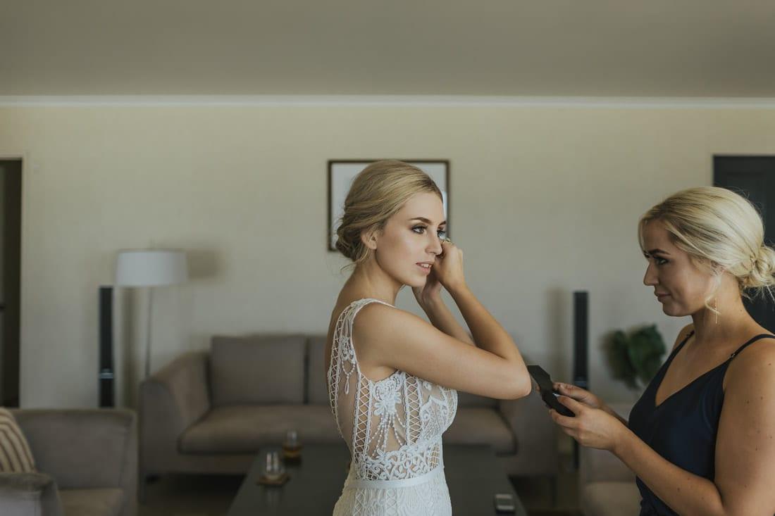 Real Weddings | Vinka Design | Real Brides Wearing Vinka Gowns | Briar and Corey - Briar getting ready