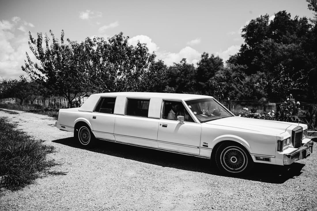 Real Weddings | Vinka Design | Real Brides Wearing Vinka Gowns | Briar and Corey - wedding car