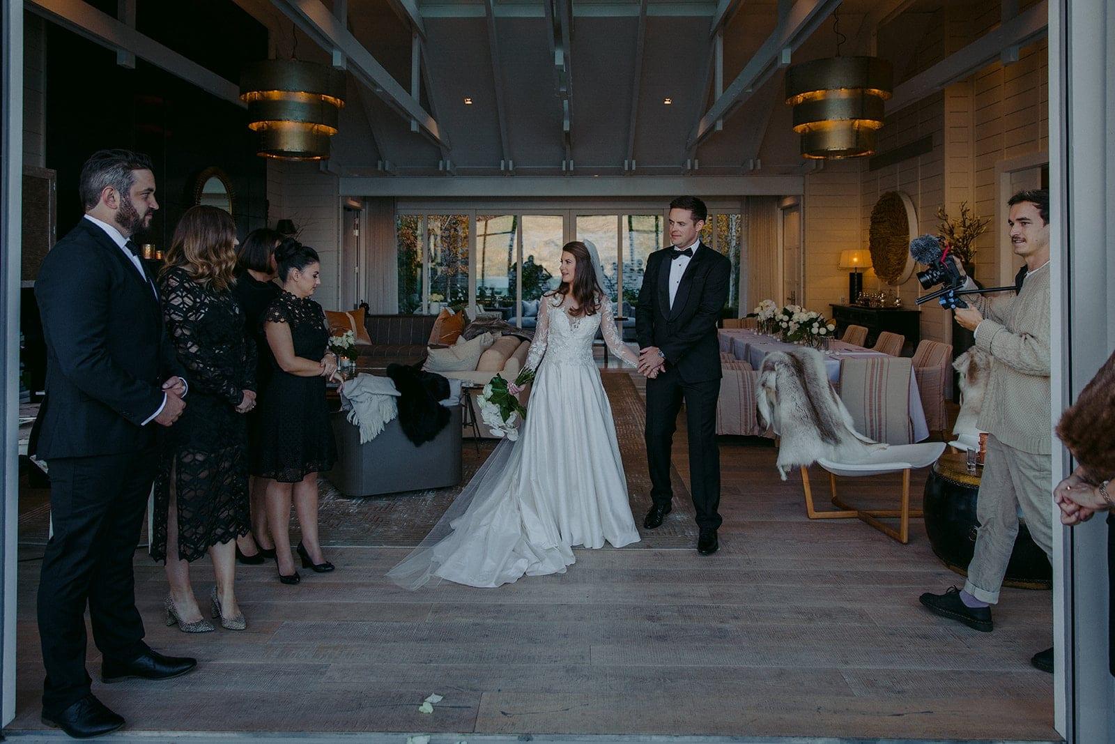 Real Weddings | Vinka Design | Real Brides Wearing Vinka Gowns | Sara and Ben wedding reception