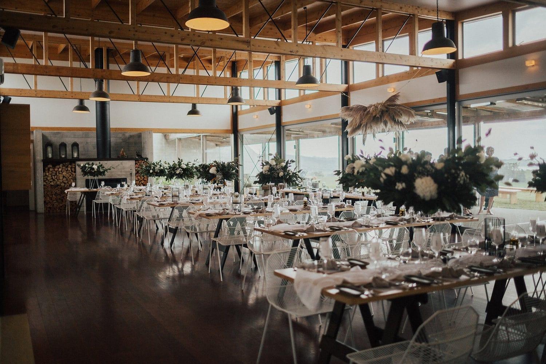Real Weddings | Vinka Design | Real Brides Wearing Vinka Gowns | Nicole and Hayden reception set up at Kauribay Boomrock