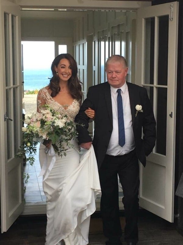 Real Weddings | Vinka Design | Real Brides Wearing Vinka Gowns | Haley and Mike - Haley arrives at wedding