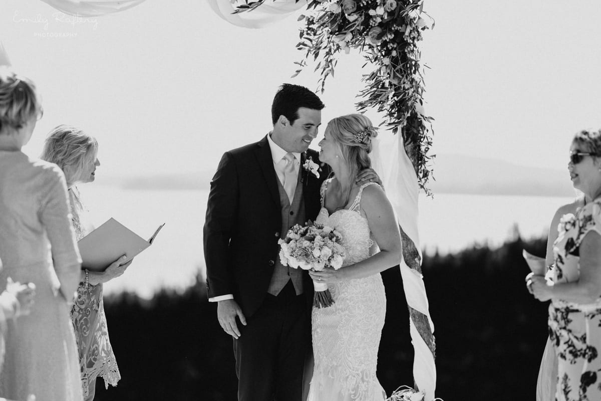 Real Weddings | Vinka Design | Real Brides Wearing Vinka Gowns | Kate and Graeme wedding at Mudbrick black and white
