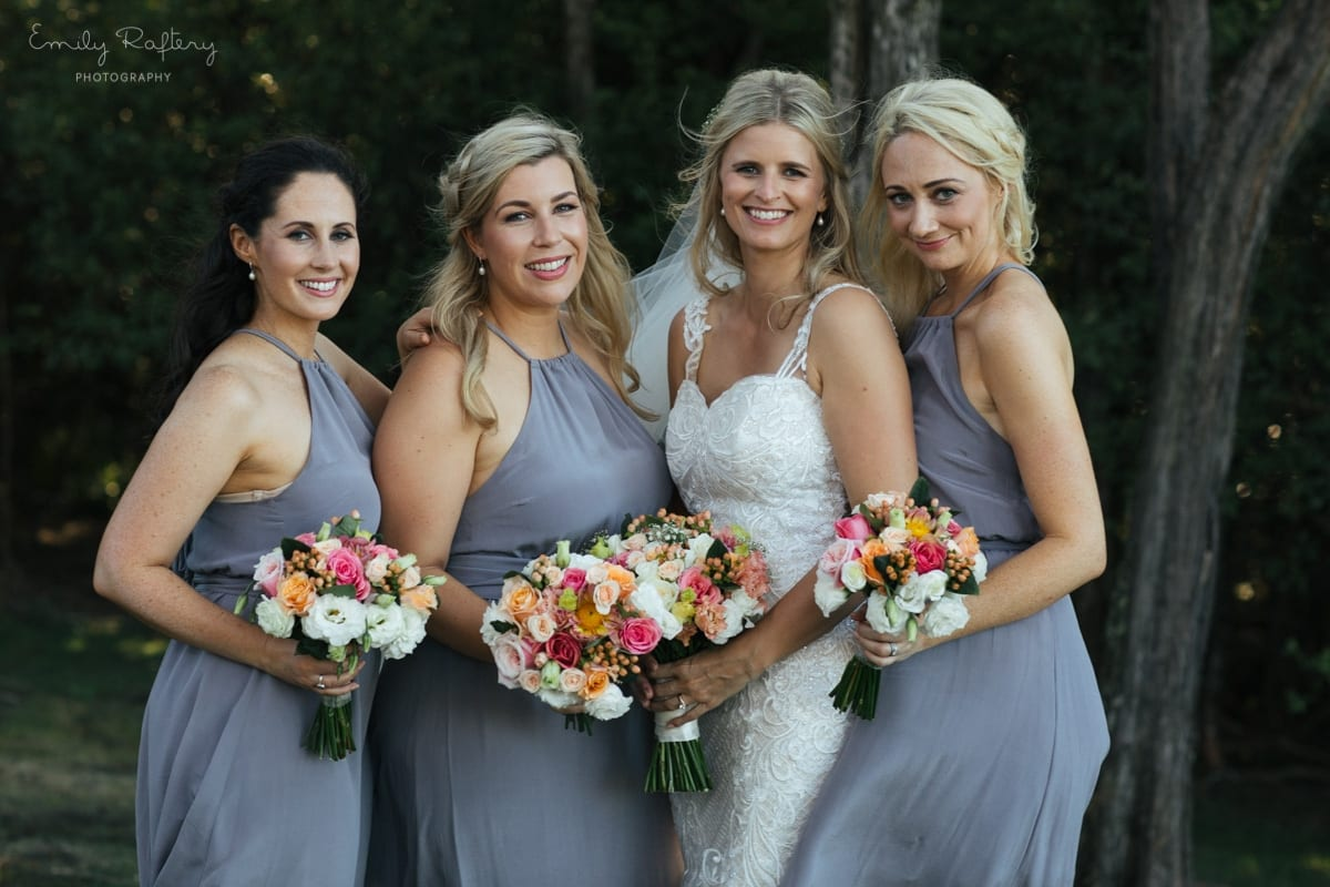 Real Weddings | Vinka Design | Real Brides Wearing Vinka Gowns | Kate and Graeme - Kate and bridesmaids
