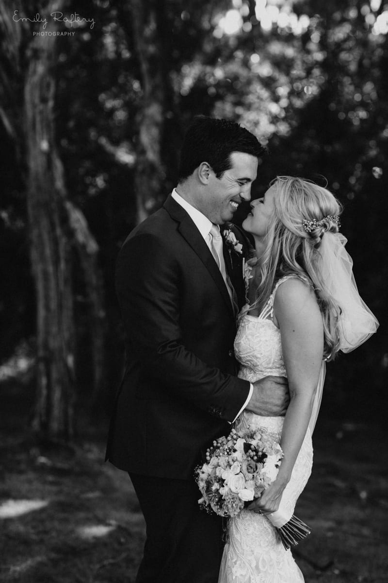 Real Weddings | Vinka Design | Real Brides Wearing Vinka Gowns | Kate and Graeme close together black and white