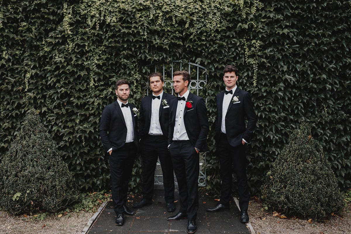 Real Weddings   Vinka Design   Real Brides Wearing Vinka Gowns   Amber and Rhys groomsmen