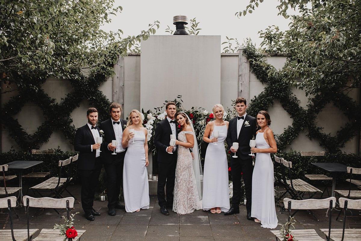 Real Weddings   Vinka Design   Real Brides Wearing Vinka Gowns   Amber and Rhys bridal party