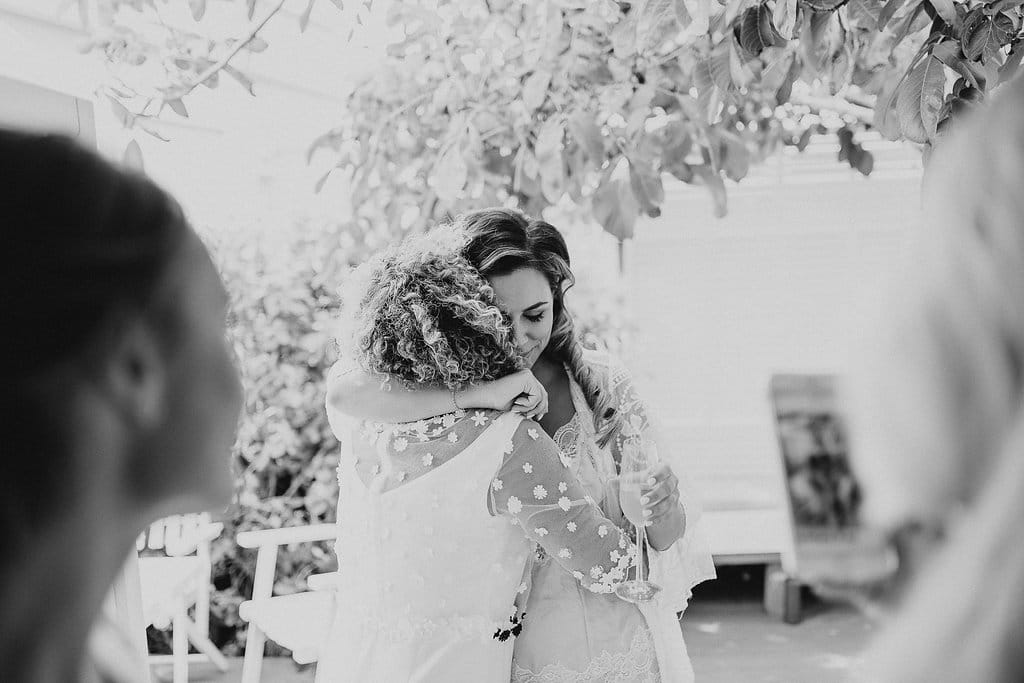 Real Weddings | Vinka Design | Real Brides Wearing Vinka Gowns | Amber and Rhys - Amber hugging