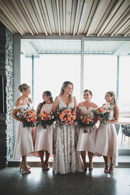 Real Weddings | Vinka Design | Real Brides Wearing Vinka Gowns | Megan and Tim - Megan with bridesmaids