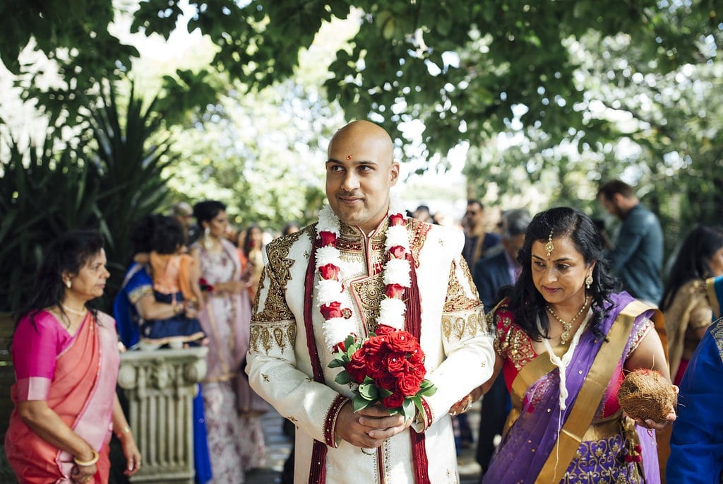 Real Weddings | Vinka Design | Real Brides Wearing Vinka Gowns | Shalini and Jayesh -Jayesh in traditional INdian outfit