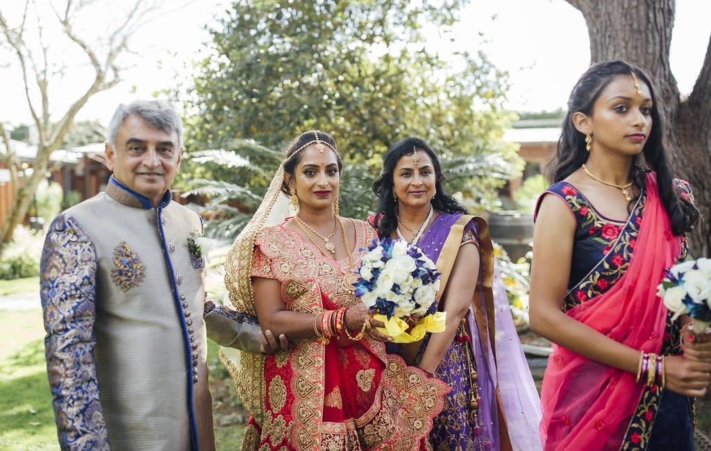 Real Weddings | Vinka Design | Real Brides Wearing Vinka Gowns | Shalini and Jayesh -Shalini with family