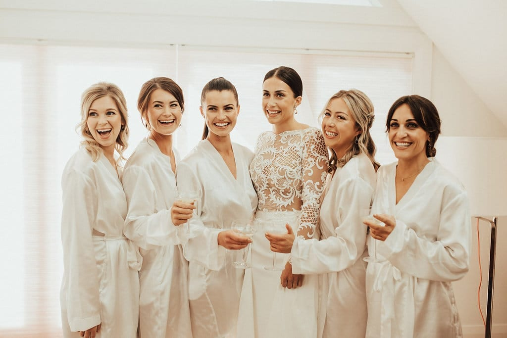 Real Weddings | Vinka Design | Real Brides Wearing Vinka Gowns | Olivia and Ben - Olivia with bridal party
