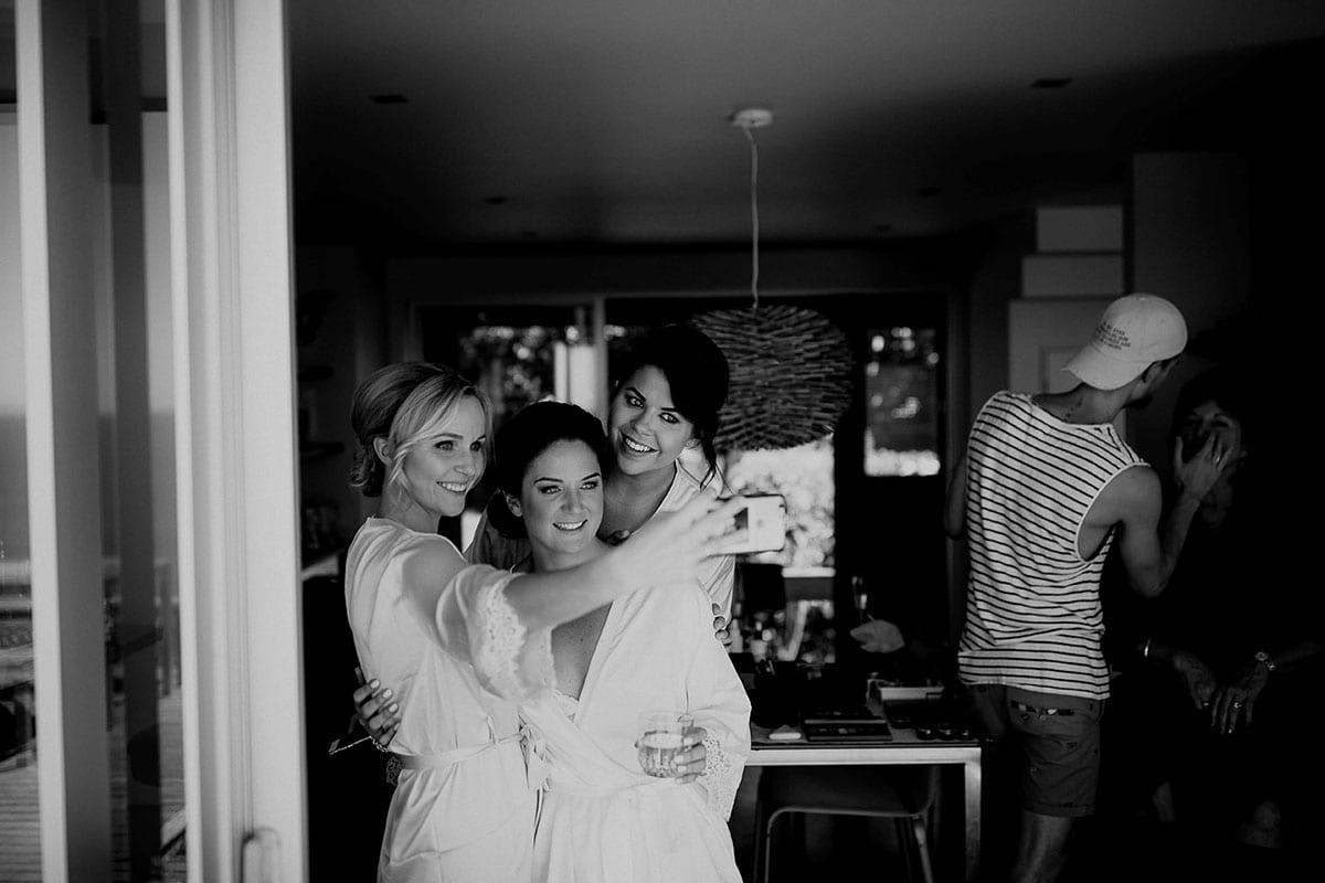Real Weddings | Vinka Design | Real Brides Wearing Vinka Gowns | Lauren and Martyn - bridesmaid selfie