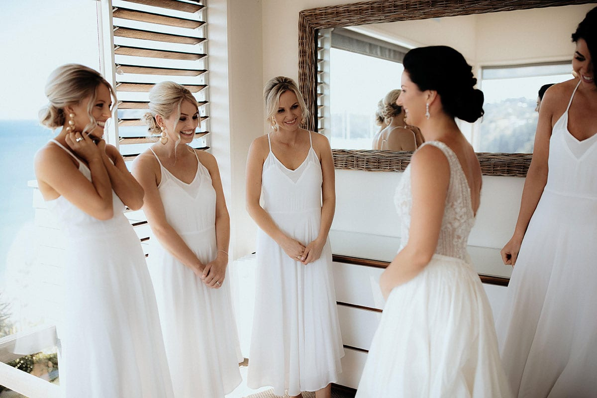Real Weddings | Vinka Design | Real Brides Wearing Vinka Gowns | Lauren and Martyn - Lauren and bridesmaids