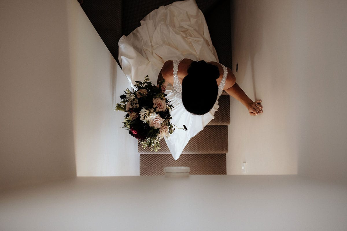 Real Weddings | Vinka Design | Real Brides Wearing Vinka Gowns | Lauren and Martyn - Lauren photo from above