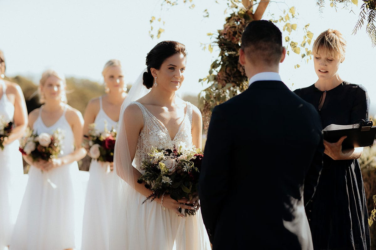 Real Weddings | Vinka Design | Real Brides Wearing Vinka Gowns | Lauren and Martyn wedding ceremony