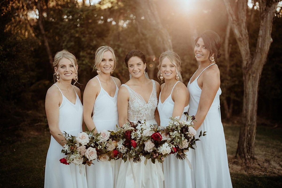 Real Weddings | Vinka Design | Real Brides Wearing Vinka Gowns | Lauren and Martyn - Lauren with bridesmaids