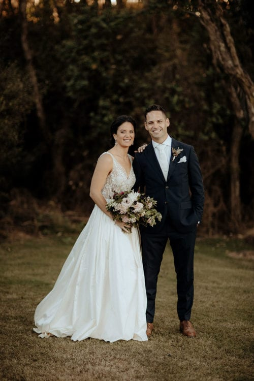 Real Weddings | Vinka Design | Real Brides Wearing Vinka Gowns | Lauren and Martyn outdoor portrait