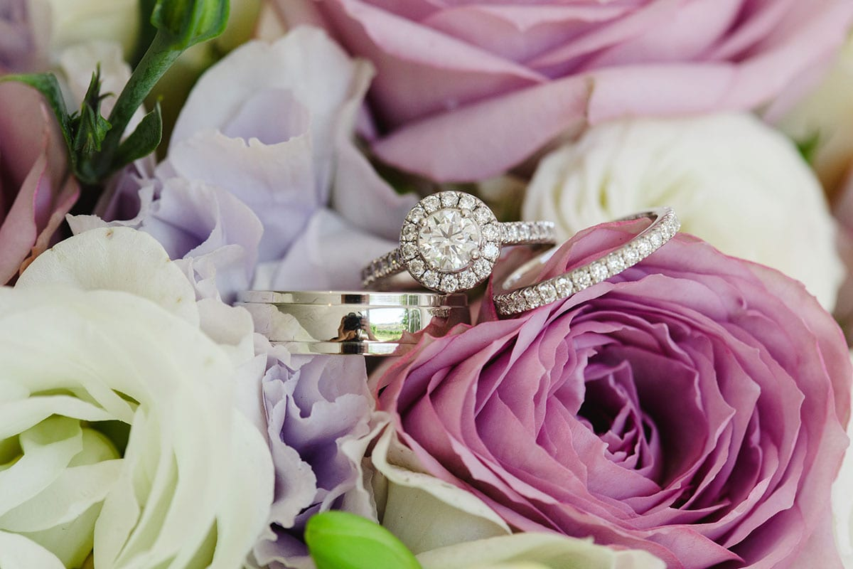 Real Weddings | Vinka Design | Real Brides Wearing Vinka Gowns | Ayesha and Nick - wedding rings and flowers