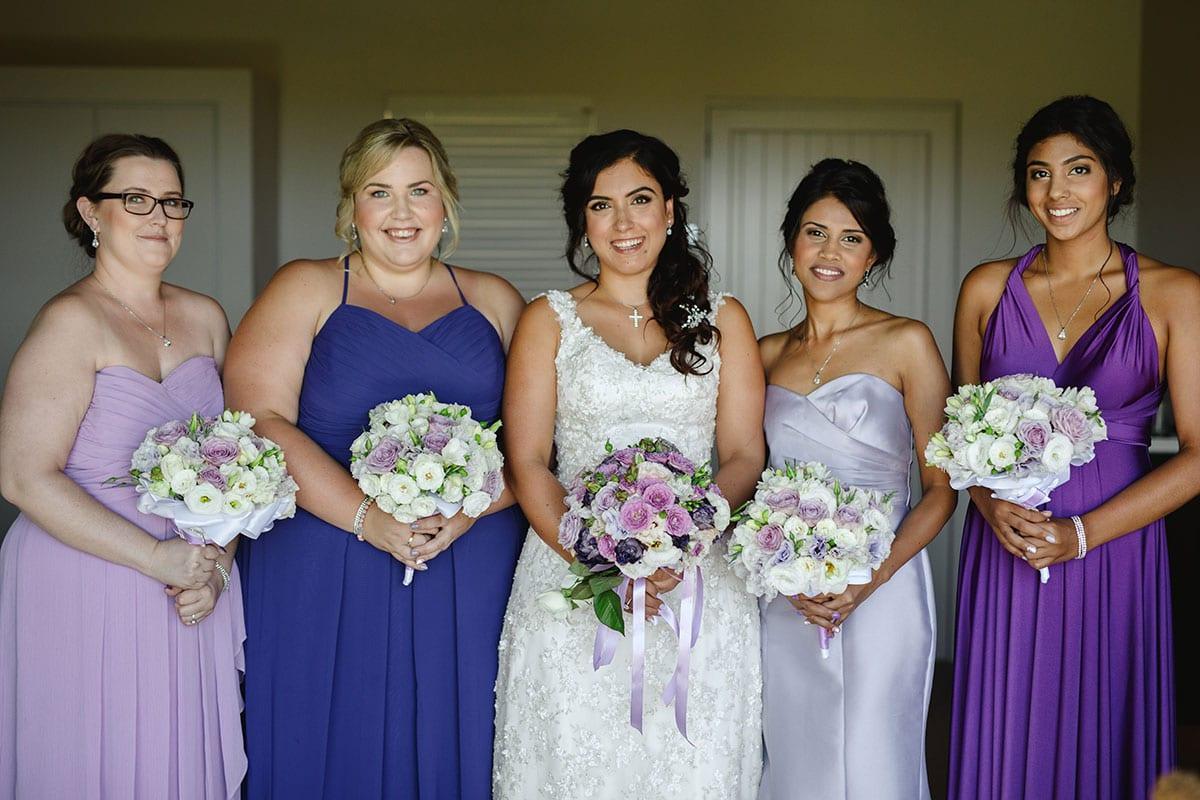 Real Weddings | Vinka Design | Real Brides Wearing Vinka Gowns | Ayesha and Nick - Ayesha with bridesmaids