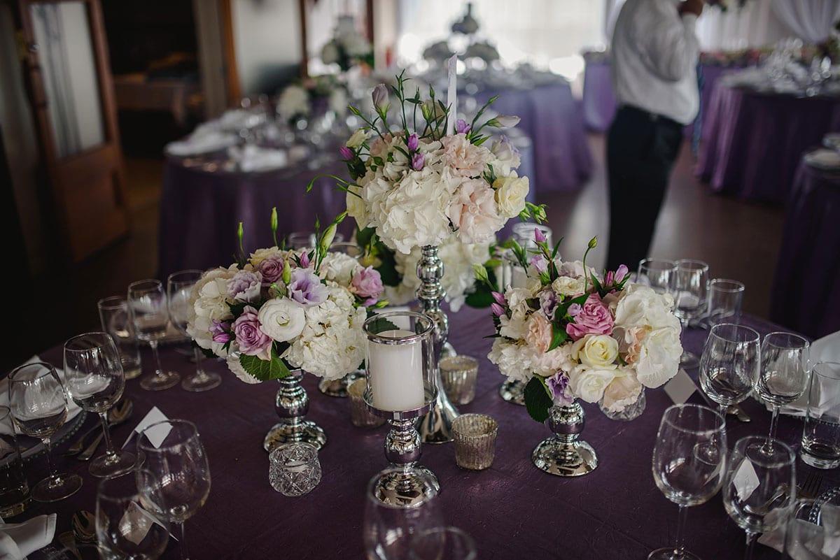 Real Weddings | Vinka Design | Real Brides Wearing Vinka Gowns | Ayesha and Nick wedding reception table