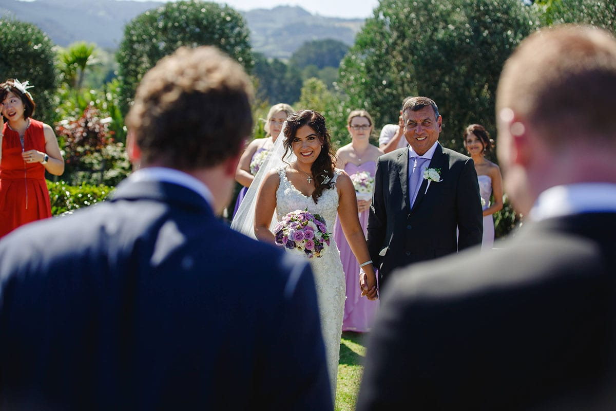 Real Weddings | Vinka Design | Real Brides Wearing Vinka Gowns | Ayesha and Nick wedding ceremony in gardens