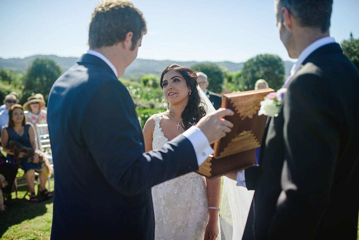 Real Weddings | Vinka Design | Real Brides Wearing Vinka Gowns | Ayesha and Nick wedding box