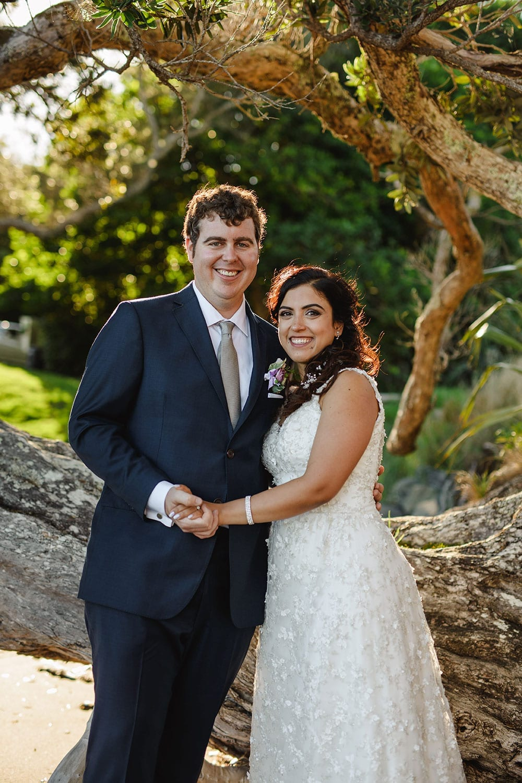 Real Weddings | Vinka Design | Real Brides Wearing Vinka Gowns | Ayesha and Nick in Plume gardens in Matakana under tree
