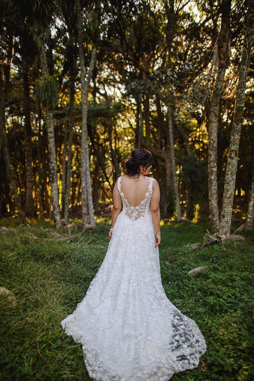 Real Weddings | Vinka Design | Real Brides Wearing Vinka Gowns | Ayesha and Nick - Ayesha in Plume gardens in Matakana