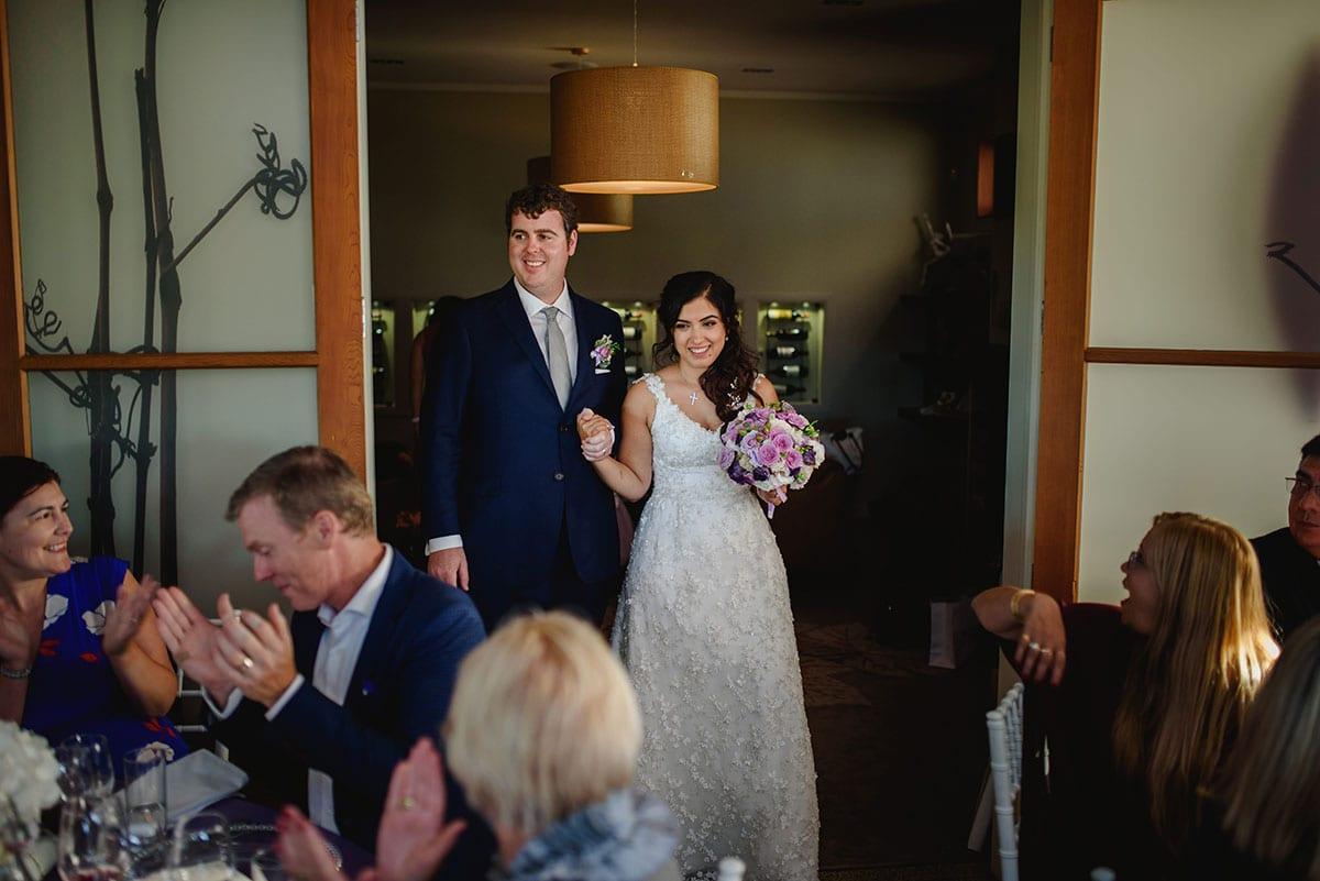 Real Weddings | Vinka Design | Real Brides Wearing Vinka Gowns | Ayesha and Nick enter wedding reception