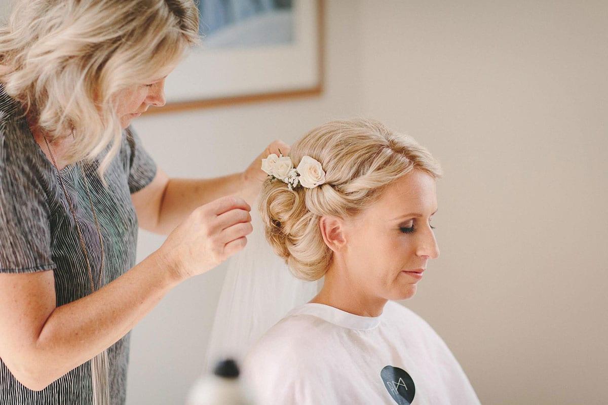 Real Weddings | Vinka Design | Real Brides Wearing Vinka Gowns | Louise and Ryan - Louise having hair done