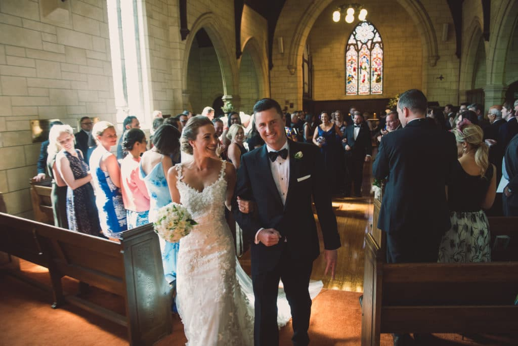 Real Weddings | Vinka Design | Real Brides Wearing Vinka Gowns | Claire and Paul church wedding