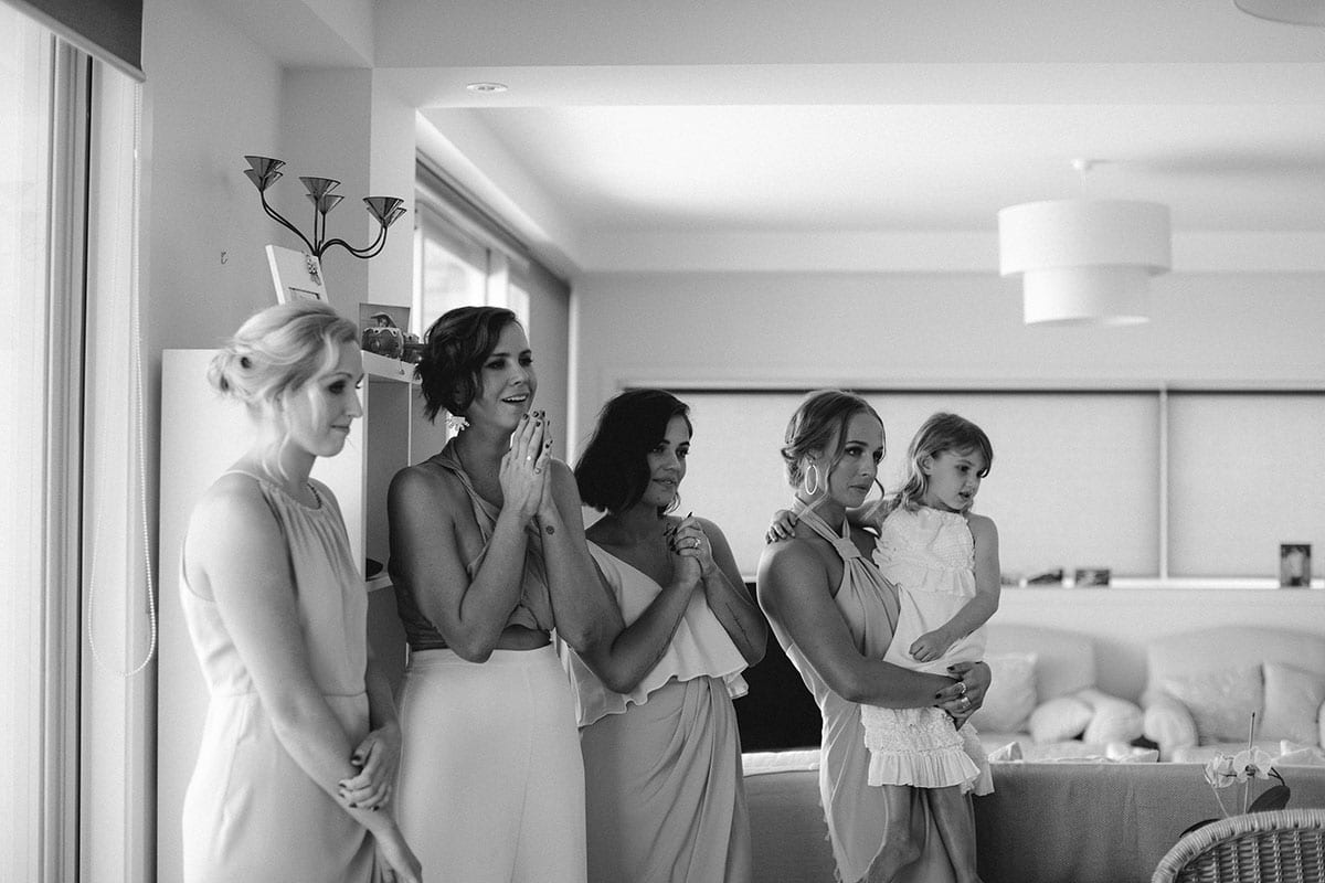 Real Weddings | Vinka Design | Real Brides Wearing Vinka Gowns | Candice and Michael - bridesmaids looking on