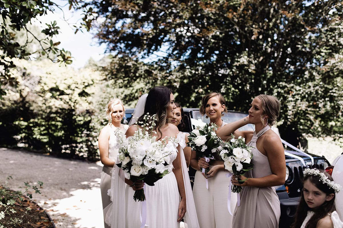 Real Weddings | Vinka Design | Real Brides Wearing Vinka Gowns | Candice and Michael - Candice and bridesmaids