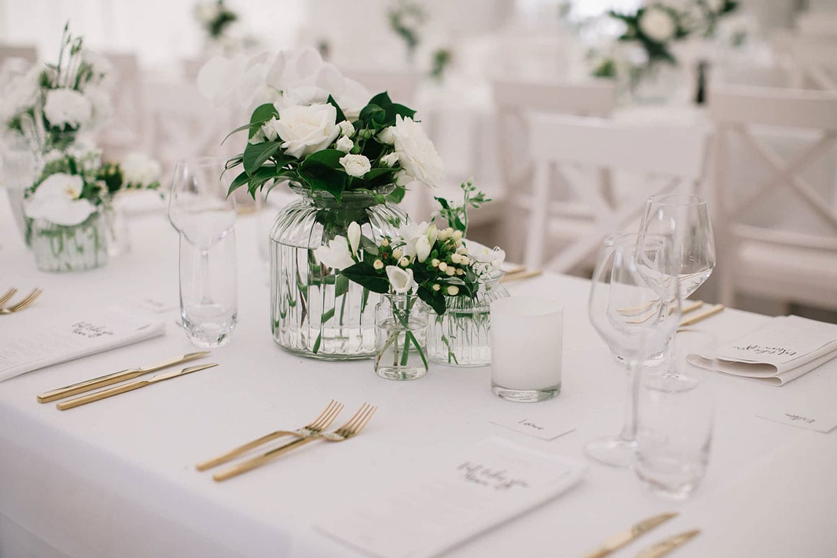 Real Weddings | Vinka Design | Real Brides Wearing Vinka Gowns | Candice and Michael reception table