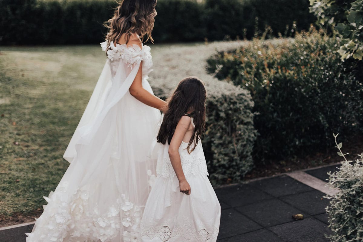 Real Weddings   Vinka Design   Real Brides Wearing Vinka Gowns   Candice and Michael - Candice with flower girl
